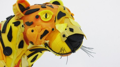 Powerful: Life-Size Animal Sculptures Made Out of Plastic Beach Trash