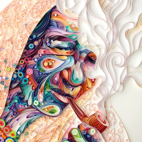 Intricate Portrait: Colourfully Explosive Palette of Quilled Paper by Yulia Brodskaya