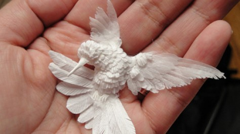 Truly Flawless: Delicate Paper Sculptures of Hummingbirds