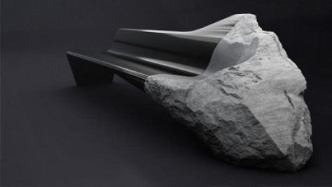 Hybrid Furniture: A Futuristic Sofa Made Out Of 11,000-Year-Old Volcanic Lava