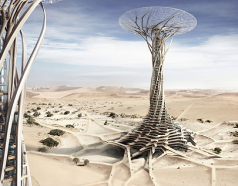 Sand Babel: Solar Desert Tower 3D-Printed From Sand